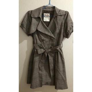 リズリサ(LIZ LISA)のコート リズメロ チェック 可愛い リズリサ 半袖(トレンチコート)