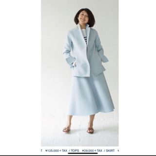 ドゥーズィエムクラス(DEUXIEME CLASSE)のマディソンブルー  ジャケット コート ウール ペールブルー 水色 美品(チェスターコート)