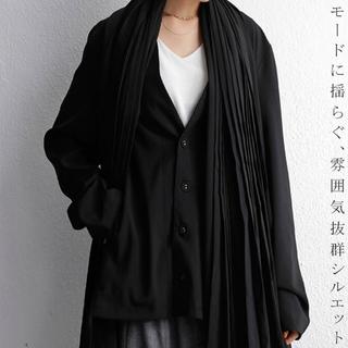 アンティカ(antiqua)の新品タグ付【アンティカ】プリーツ 変形 ブラック ジャケット(ノーカラージャケット)