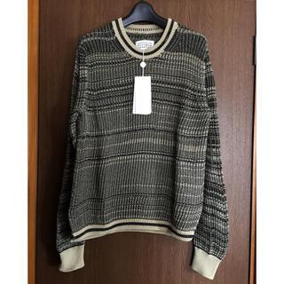 マルタンマルジェラ(Maison Martin Margiela)のM新品 メゾン マルジェラ ローゲージ ニット セーター メンズ ブラック(ニット/セーター)