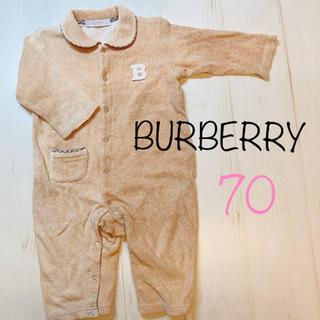 バーバリー(BURBERRY)のBURBERRY 長袖 ロンパース カバーオール 70センチ バーバリー(カバーオール)