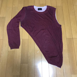 ナンバーナイン(NUMBER (N)INE)のNumber(N)ineアシンメトリーカットソー 2(Tシャツ/カットソー(半袖/袖なし))