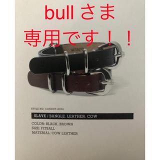 ダブルタップス(W)taps)のwtaps 12ss slave bangle leather cow 黒(ブレスレット)