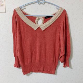 ココディール(COCO DEAL)のラメ入り 襟付き サーモピンク オレンジ ココディール トップス 暖色系(カットソー(長袖/七分))