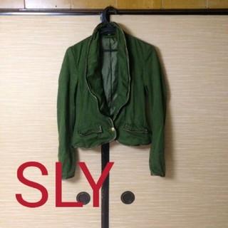スライ(SLY)のSLYミリタリージャケット ワイヤー入り(テーラードジャケット)