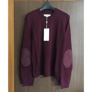マルタンマルジェラ(Maison Martin Margiela)のL新品 メゾン マルジェラ レディース エルボーパッチ ニット セーター バーガ(ニット/セーター)