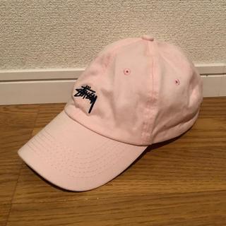 ステューシー(STUSSY)のステューシー キャップ 男女兼用サイズ ピンク(キャップ)