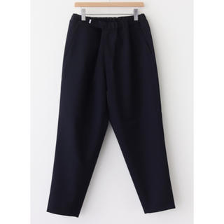 コモリ(COMOLI)のGraphpaper SELVAGE WOOL CHEF PANTS NAVY(スラックス)
