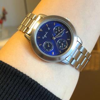 アニエスベー(agnes b.)のお洒落なagnes b.腕時計 稼働中    ユニセックス 極々美品 (腕時計(アナログ))