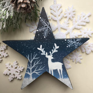 クリスマスオブジェ【星型】【クリスマス xmas】【北欧】(置物)
