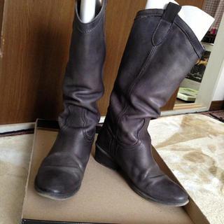 革製ブーツ(ブーツ)