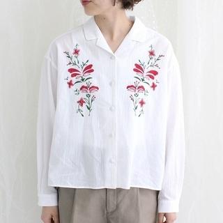 パーリッシィ(PAR ICI)のアルバトロスローン BIG FLOWER開襟シャツ(シャツ/ブラウス(長袖/七分))