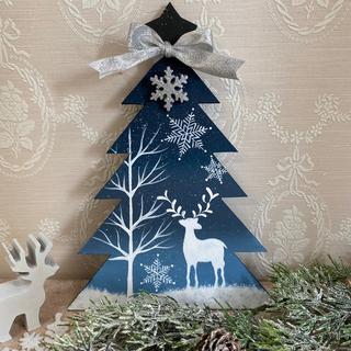 おしゃれな クリスマス ツリー オブジェ【北欧 の 森】xmas 壁掛けタイプ(インテリア雑貨)