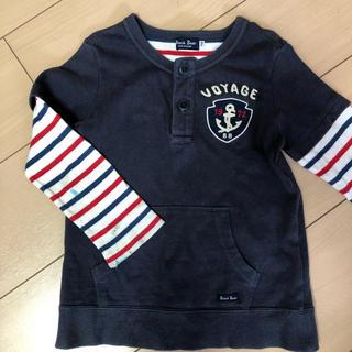 ミキハウス(mikihouse)のミキハウス【Black bear】長袖トレーナー110サイズ(Tシャツ/カットソー)