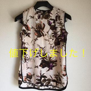ジーユー(GU)のGUの大人ボタニカル柄トップス!(シャツ/ブラウス(半袖/袖なし))
