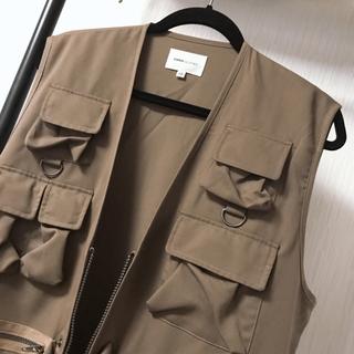 ハレ(HARE)のEmma clothes ミリタリーベスト M ブラウン(ベスト)