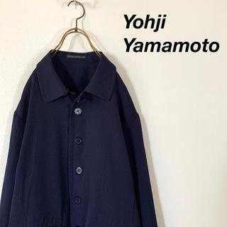 ヨウジヤマモト(Yohji Yamamoto)のYohji Yamamoto ウール デザインジャケット ビッグカラー(ブルゾン)