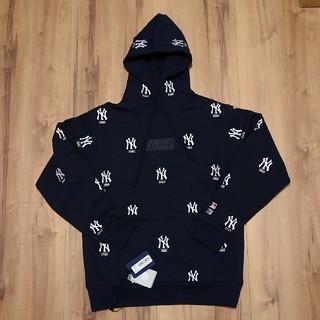 Kith × Yankees Monogram Hoodie-Navy(パーカー)