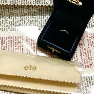エテ(ete)のk10 ピンキーリング(リング(指輪))