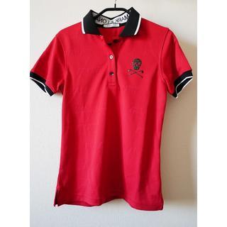 マークアンドロナ(MARK&LONA)の新品!MARK&LONA レディース ポロシャツ レッド ロゴ S(ウエア)