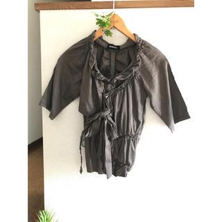 ズッカ(ZUCCa)のZUCCA ズッカ デザインブラウス カットソー フリル(カットソー(半袖/袖なし))