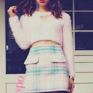 ◆one spo◆ピンクチェックミニスカート◆(ミニスカート)