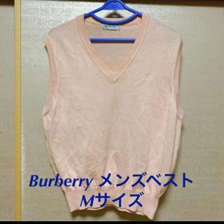 バーバリー(BURBERRY)のバーバリー Burberry メンズベスト M ピンク(ベスト)