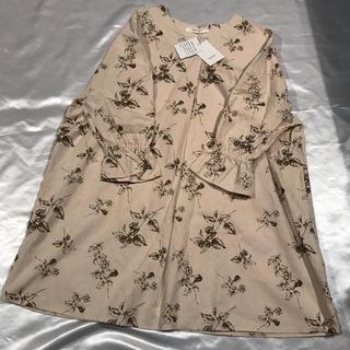 ◆新品タグ付き◆Mushroom◆ベージュ+木の実、花柄ミニワンピース◆(ミニワンピース)