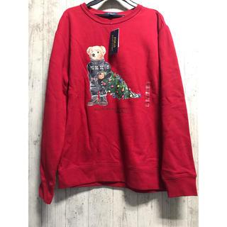 ラルフローレン(Ralph Lauren)の新品 170 ポロベア クリスマス ラルフローレン 赤 トレーナー  スウェット(スウェット)