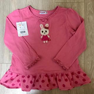 ミキハウス(mikihouse)の美品 ミキハウスmikihouse 110 うさこ 長袖Tシャツ ロンT 女の子(Tシャツ/カットソー)