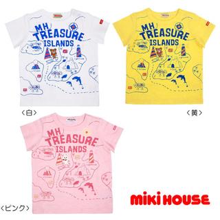 ミキハウス(mikihouse)の新品タグ付 ミキハウス 110 プッチー トレジャー 黄 半袖Tシャツ 男の子(Tシャツ/カットソー)