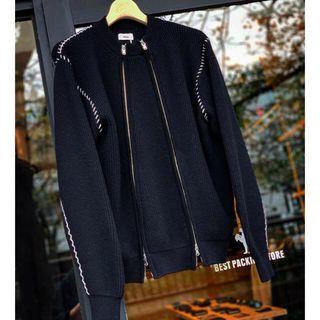 アレッジ(ALLEGE)のallege double zip knit ジップニット(ニット/セーター)