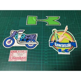 カワサキ(カワサキ)の当時物  Kawasaki カワサキ  ステッカー  未使用品(ステッカー)