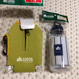 ロゴス(LOGOS)の【新品】ロゴス クリアボトルとカバー(ノベルティグッズ)