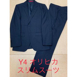 オリヒカ(ORIHICA)のY4 オリヒカ シャドーストライプ ブラック スリムスーツ(セットアップ)