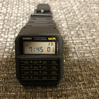 カシオ(CASIO)のカシオ CA-53W ブラック 腕時計(腕時計(デジタル))