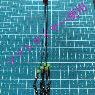 タチウオ  ワイヤーリーダー A 15cm 10本 スナップサルカン付(釣り糸/ライン)