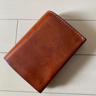 ヘルツ(HERZ)のorganオルガン 小型のマチ付き二つ折り財布 GS-15 M アンバー(財布)