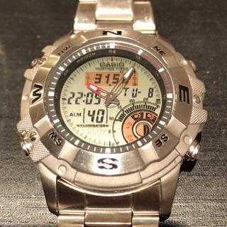 カシオ(CASIO)のカシオ 腕時計 アナデジ OUTGEAR ハンティング AMW 704(腕時計(デジタル))