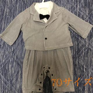 ベルメゾン(ベルメゾン)の男の子 フォーマル ロンパース 70サイズ(セレモニードレス/スーツ)