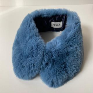 フルラ(Furla)の専用 フルラ ファー ティペット つけ襟 ブルー レッキスファー 未使用(つけ襟)