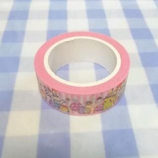 ポケモン(ポケモン)のポケセン 2020 イースター マスキングテープ ピンクストライプ 未使用 バラ(テープ/マスキングテープ)