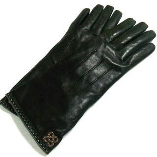 コーチ(COACH)のコーチ 手袋 7 レディース美品  - 黒(手袋)
