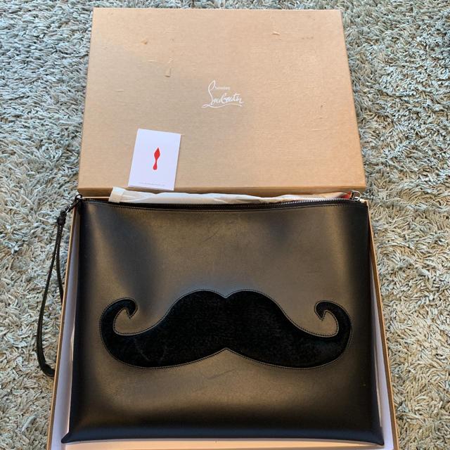 Christian Louboutin(クリスチャンルブタン)のChristian louboutin クラッチバッグ 髭 メンズのバッグ(セカンドバッグ/クラッチバッグ)の商品写真