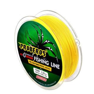 PEライン 高強度 PRO 1号 15lb/100m巻き カラーイエロー 釣り糸(釣り糸/ライン)