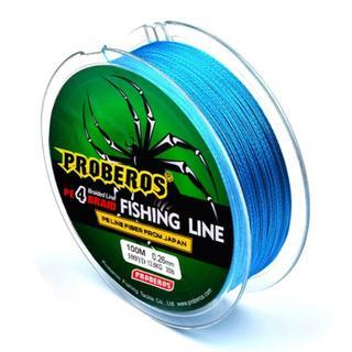 PEライン 高強度 PRO 0.8号 10lb/100m巻き カラーブルー 釣り(釣り糸/ライン)