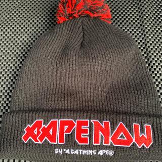 アベイシングエイプ(A BATHING APE)のBAPE エイプ ニット帽 新品未使用 帽子(ニット帽/ビーニー)