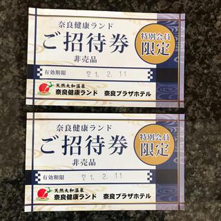 奈良健康ランド ご招待券 2枚(その他)