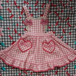 シャーリーテンプル(Shirley Temple)のシャーリーテンプル ギンガムジャンパースカート 100(ワンピース)
