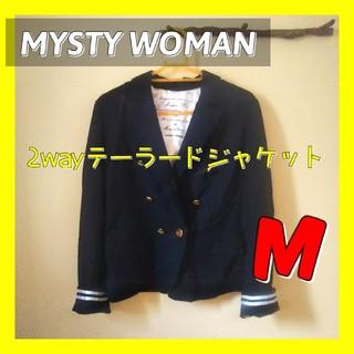 ミスティウーマン(mysty woman)のミスティウーマンMYSTY WOMANネイビーテーラードジャケットマリンアウター(テーラードジャケット)